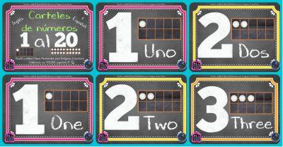 Carteles para trabajar los Números PORTADA