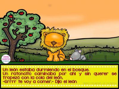 Fábula  el león y el ratón (2)