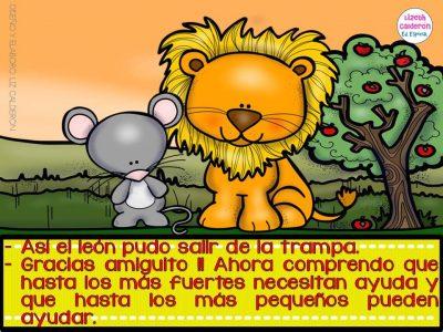 Fábula  el león y el ratón (5)