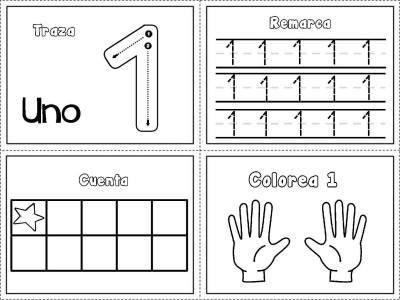 FICHAS DE GRAFOMOTRICIDAD DE NUMEROS 1 A 10 LISTAS PARA IMPRIMIR ...