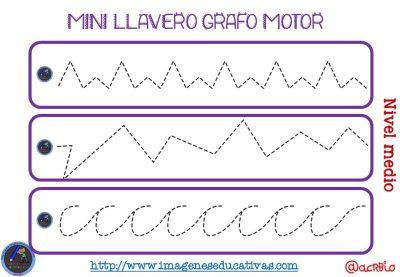 Llavero para trabajar la Grafomotricidad diferentes niveles (5)