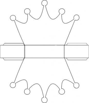 Moldes y plantillas coronas de cumpleaños (1)