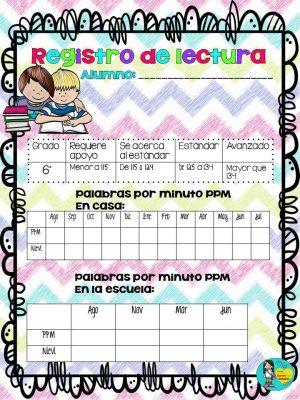 Registros de lectura para Primaria (13)