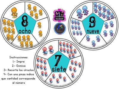 Spinners numéricos trabajamos el conteo (4)