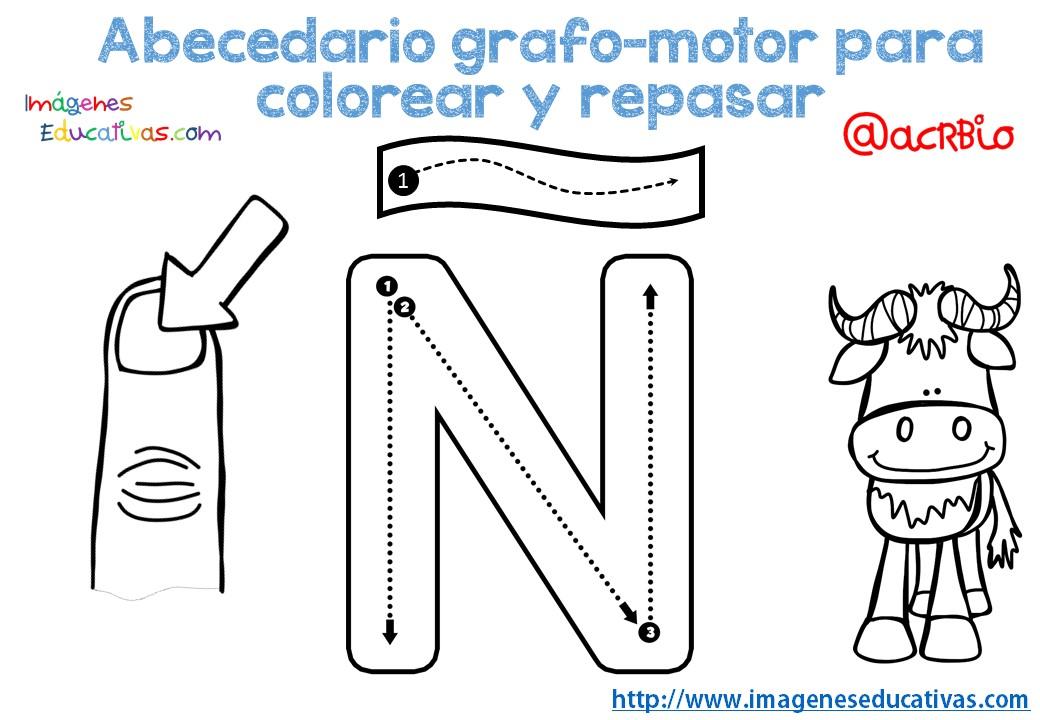 Alfabeto Para Colorear: Abecedario-grafo-motor-para-colorear-y-repasar-15