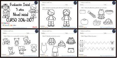 Evaluación inicial Educación Infantil 3 AÑOS PORTADA