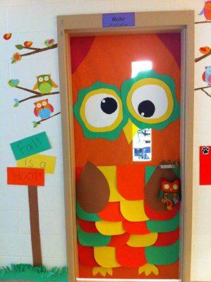 Puertas de clase y decoraciones con b hos imagenes for Puertas decoradas para guarderia