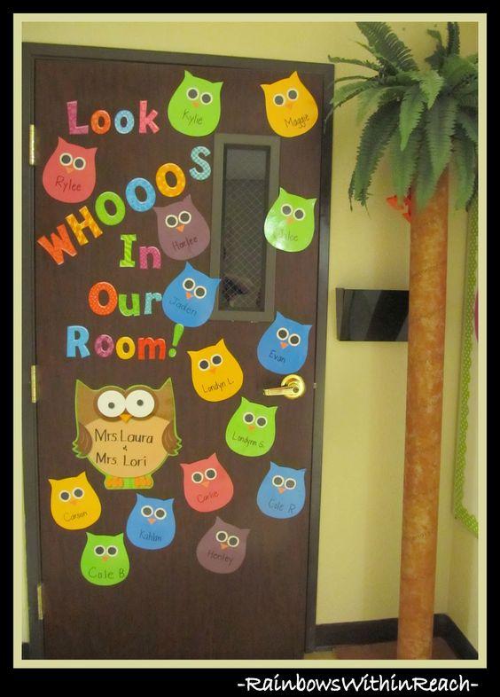 Classroom Decorations For Grade 4 ~ Puertas y decoraciones con buhos imagenes educativas