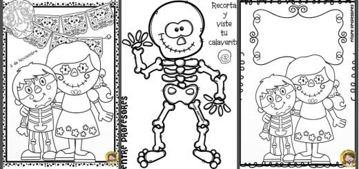 Dibujos para colorear el día de los Muertos - Imagenes Educativas