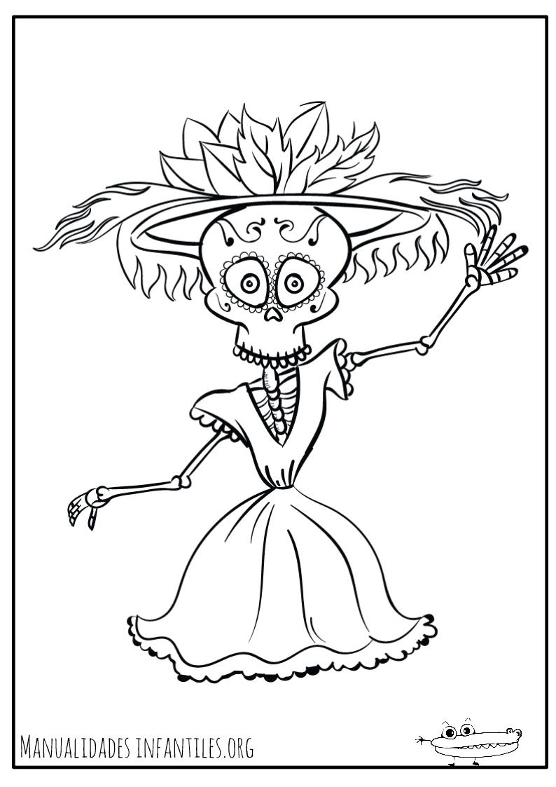 calavera catrina coloring pages - photo#24