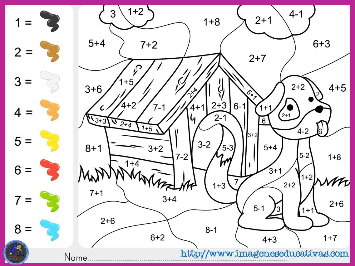 Fichas De Matematicas Para Sumar Y Colorear Dibujo 5
