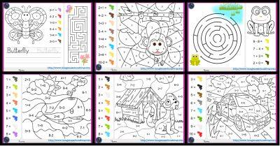 Colorea Por Por Sumas Y Números Imagenes Educativas