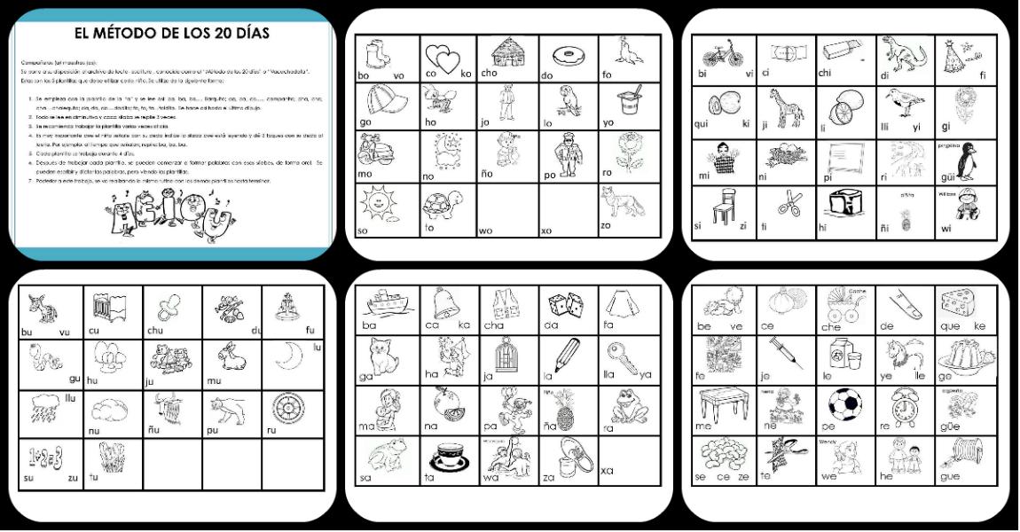 El método de los 20 días lectoescritura. – Imagenes Educativas