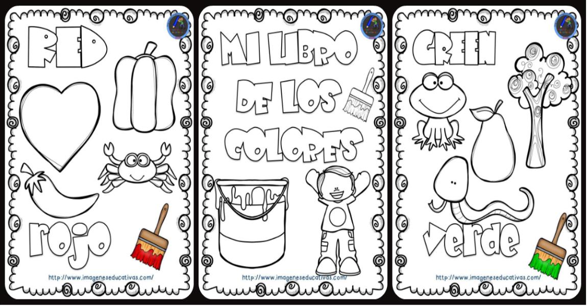 Mi Libro De Los Colores Para Colorear Portada Imagenes