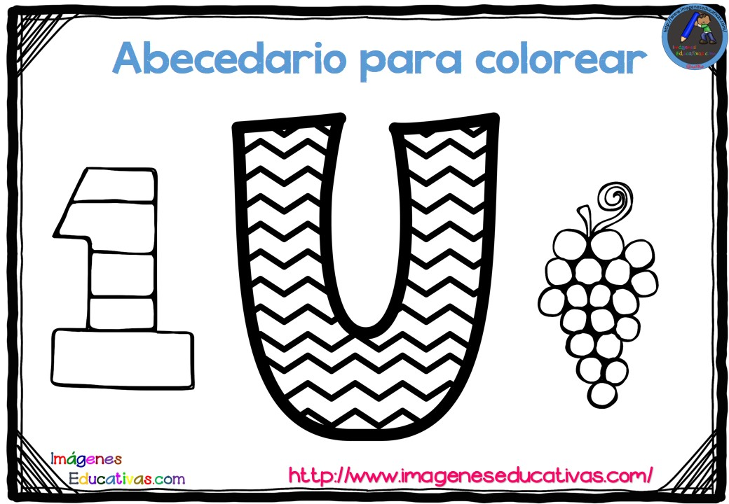 Imagenes Para Colorear E Imprimir: Abecedario Para Colorear Listo Para Descargar E Imprimir