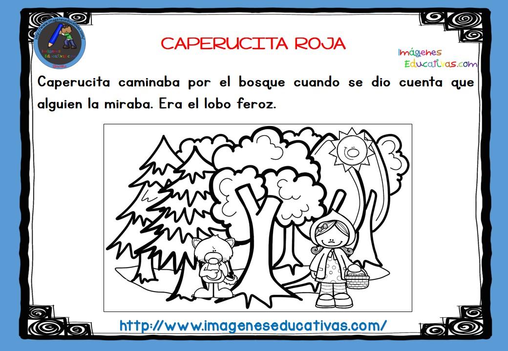 Dibujos De Caperucita Roja Para Colorear E Imprimir: CAPERUCITA ROJA B-N (4)