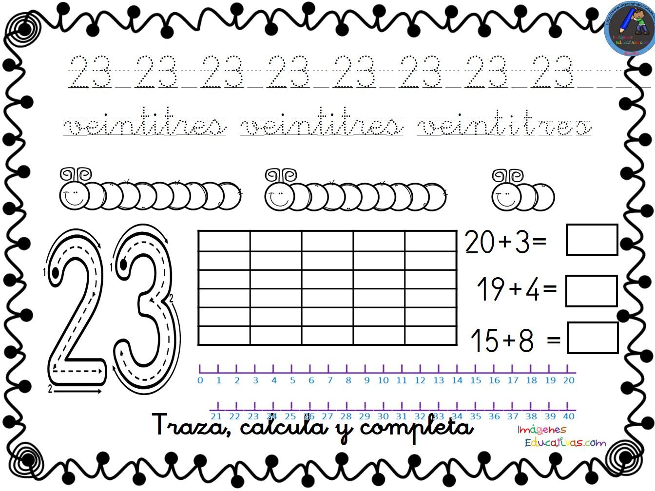 Colección De Fichas Para Trabajar Los Números Del 1 Al 30