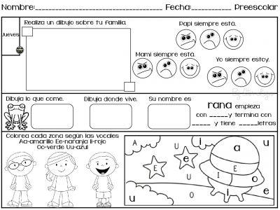 Talleres Para Niños De Preescolar Para Imprimir Niños Creativos