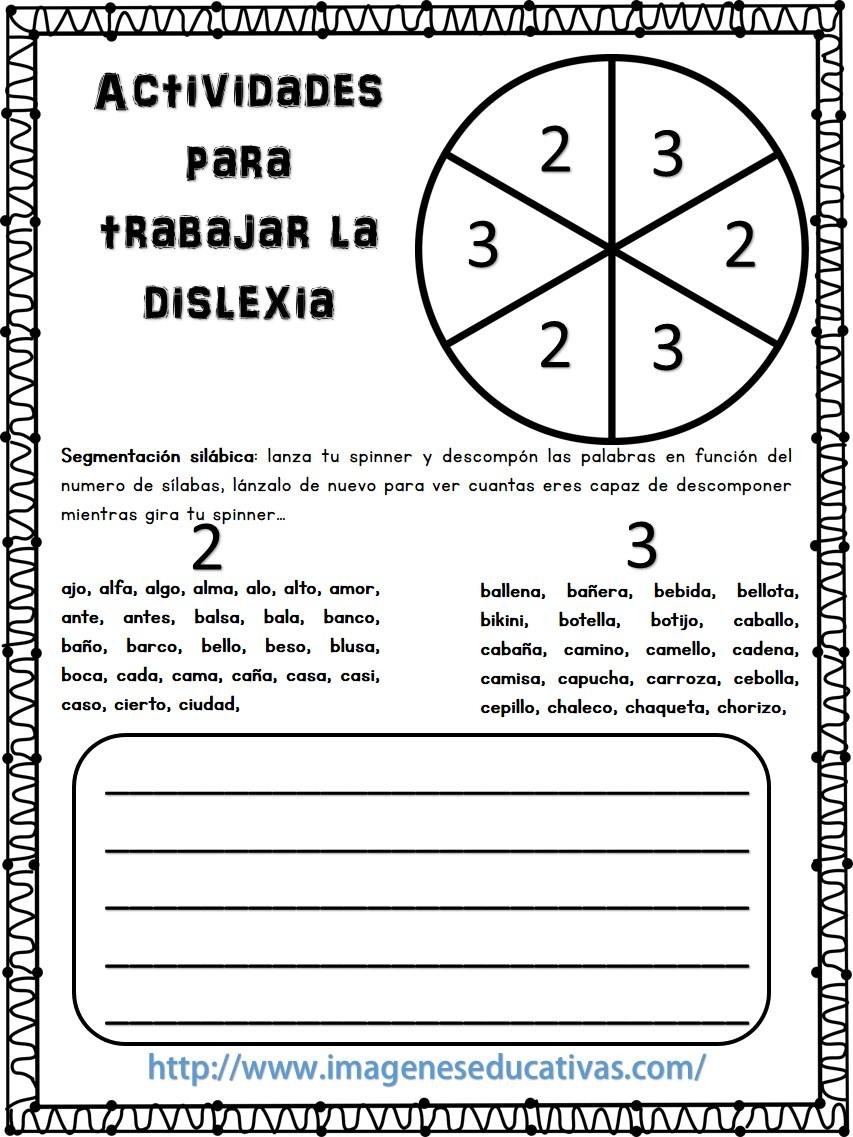 Actividades para trabajar la dislexia (1) - Imagenes Educativas