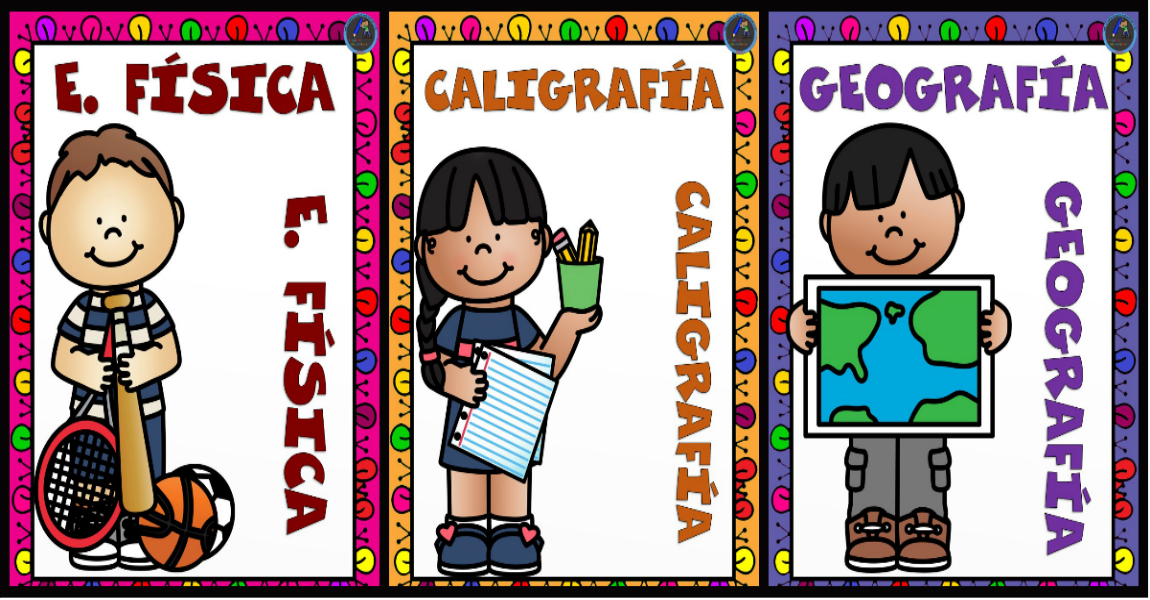 Caratulas Color Cuadernos Escolares Infantiles Dibujos Para 2: Portadas Para Cuadernos Y Carpetas De Las Diferentes
