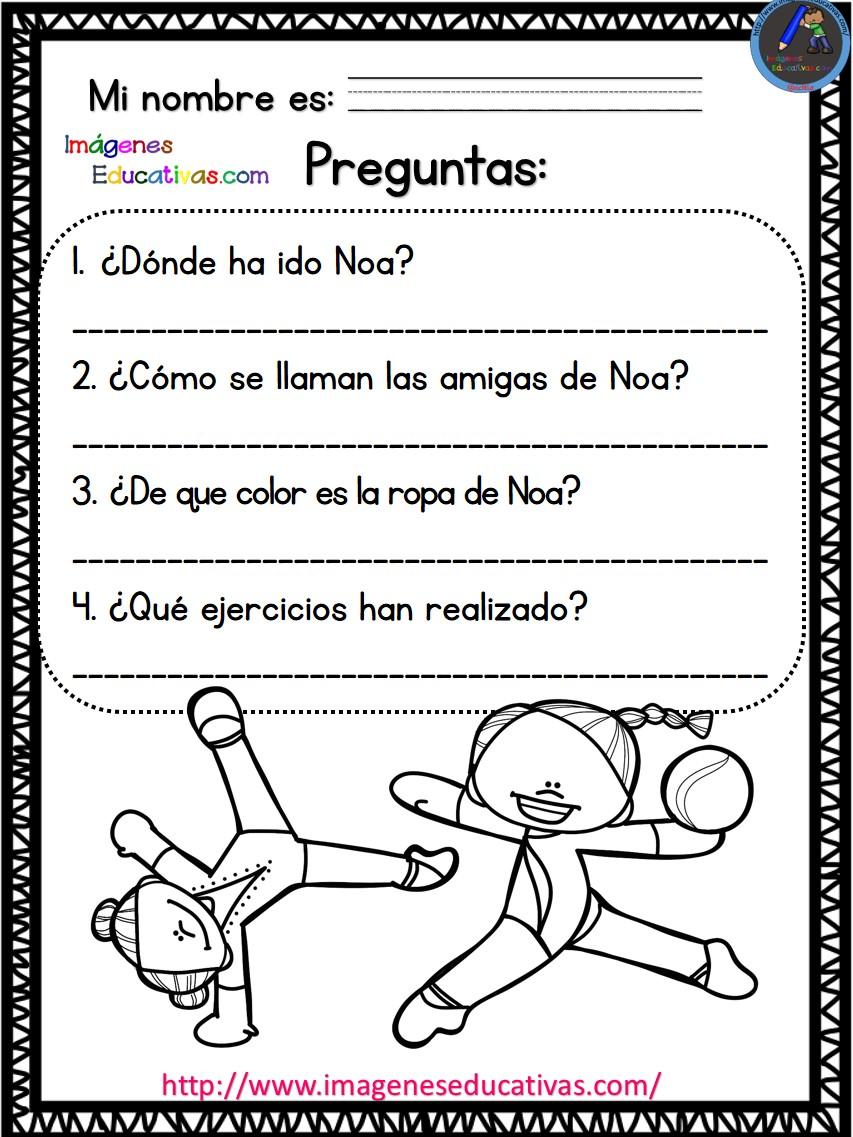 Lecturas comprensivas mi primer día de clase (7) - Imagenes Educativas