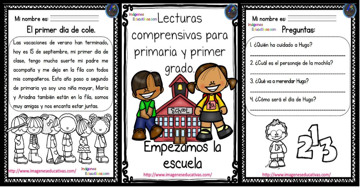 Lecturas con preguntas para primaria y primer grado - Imagenes ...