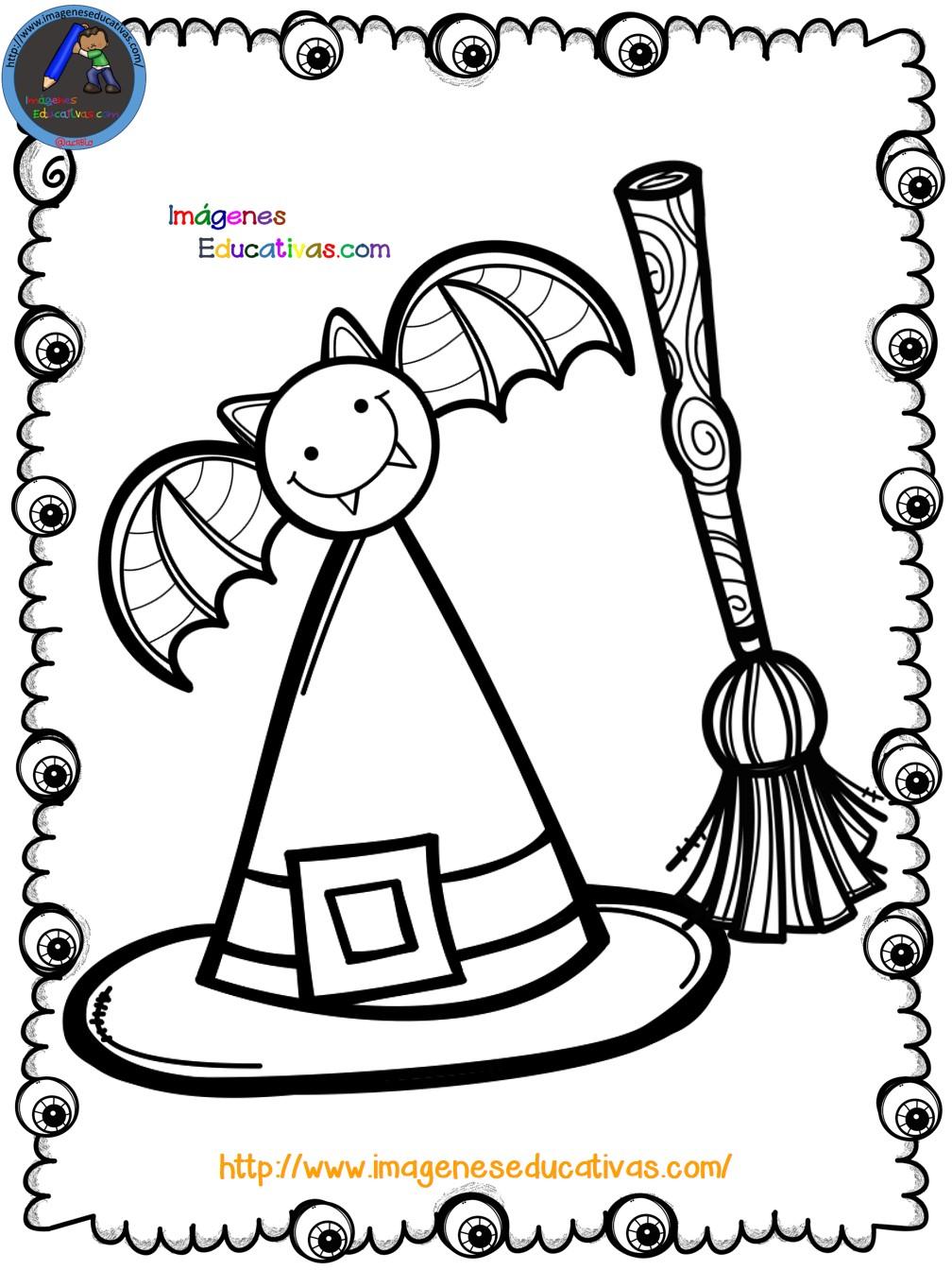 Mi libro para colorear en halloween 6 imagenes educativas - Colores para colorear ...