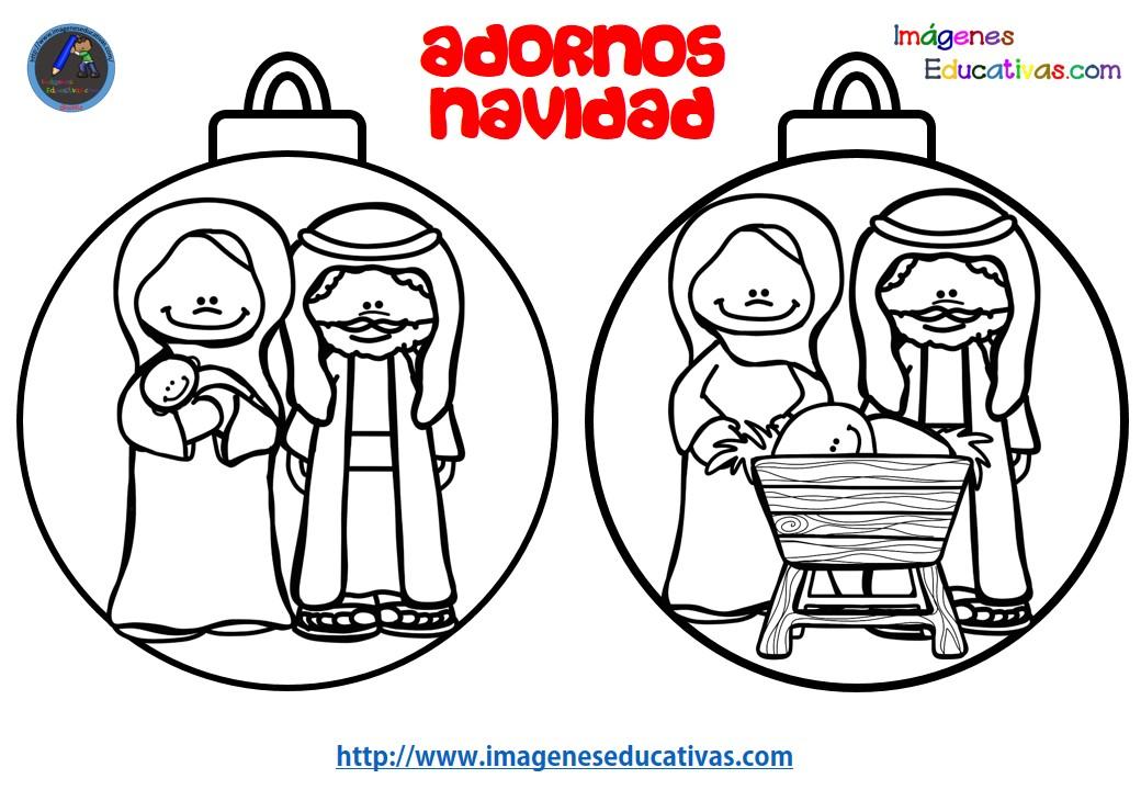 Dise os para colerear bolas de navidad imagenes educativas - Bolas de navidad para ninos ...