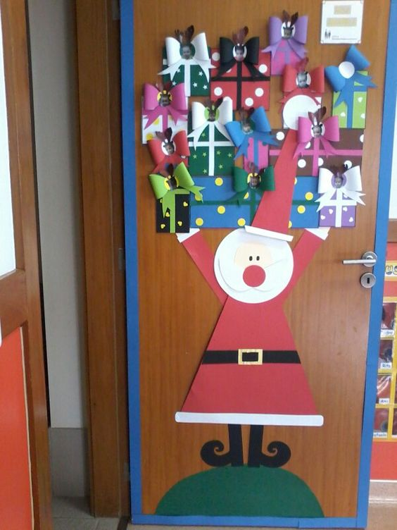 Puertas navidad 14 imagenes educativas - Como decorar un salon en navidad ...