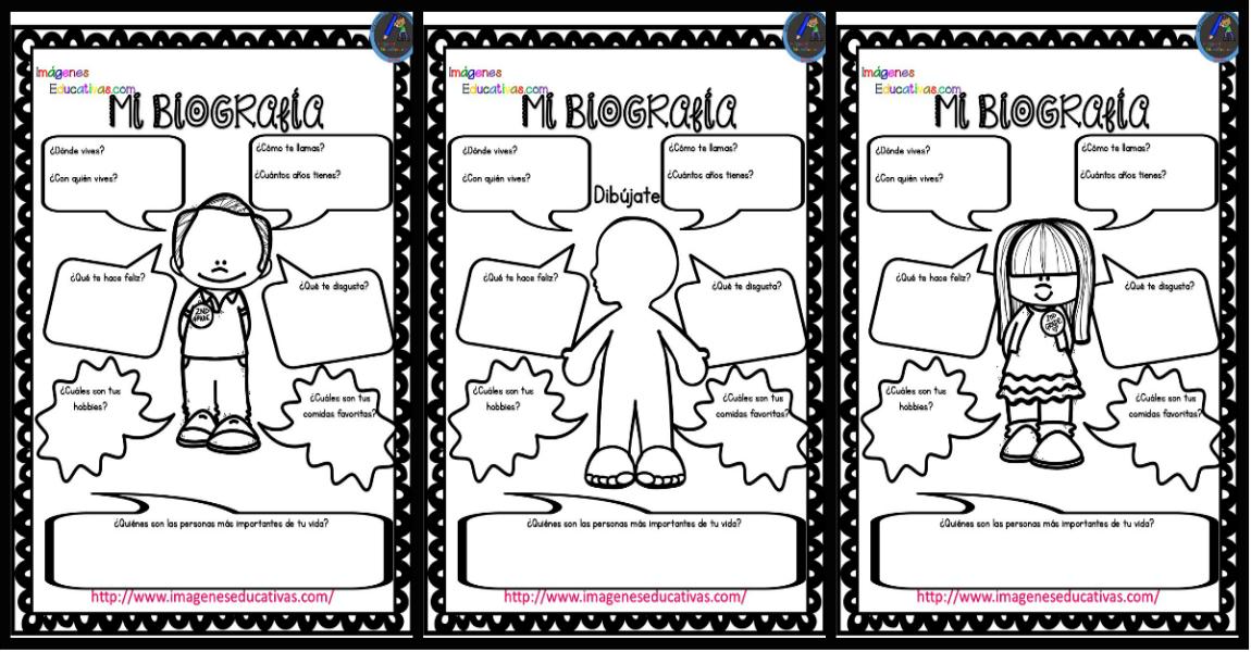 Autobiografía Para Niños Primaria Y Primer Grado Imagenes Educativas