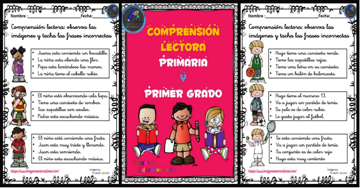 Comprensión Lectora Primaria Y Primer Grado Frase Correcta