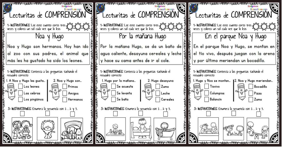4357841df Lecturitas de comprensión para Infantil y primer ciclo de primaria PORTADA  - Imagenes Educativas