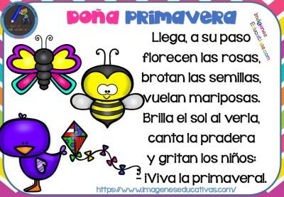 Poesías Infantiles De La Primavera Imagenes Educativas