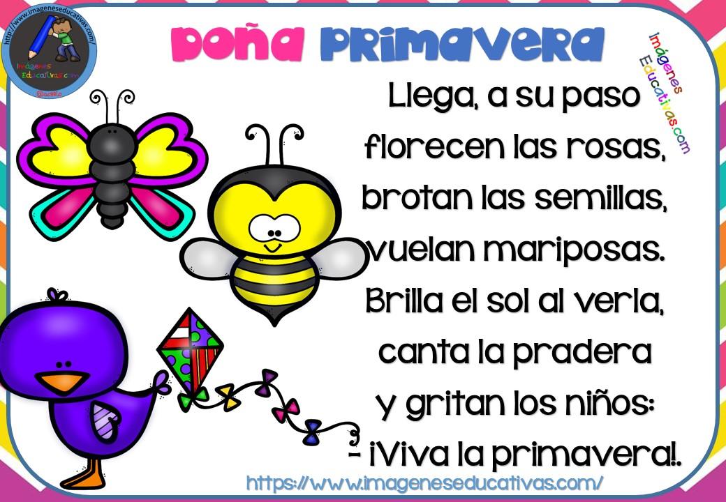 Poesías infantiles de la primavera (11) - Imagenes Educativas