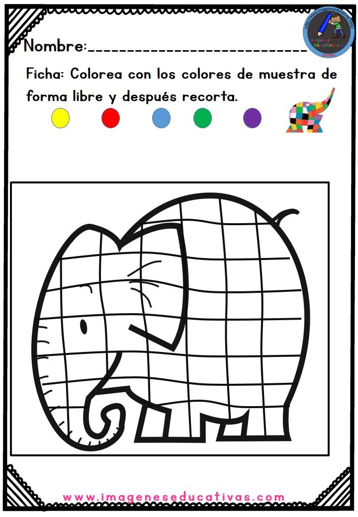 Elmer el Elefante (11) - Imagenes Educativas