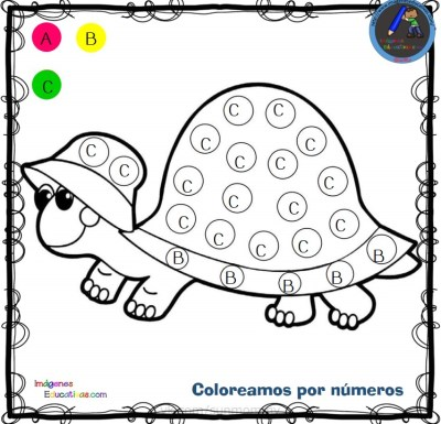Fichas para colorear por letras, números y símbolos - Imagenes ...