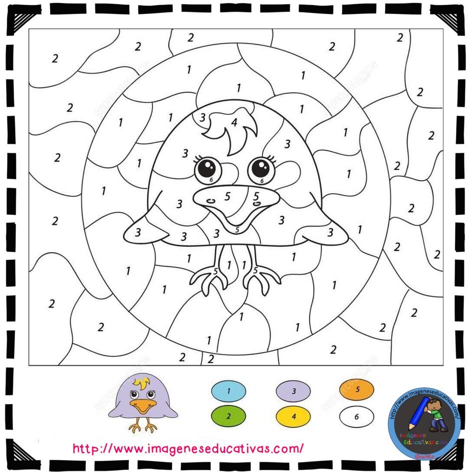 Colorear por números (15) - Imagenes Educativas