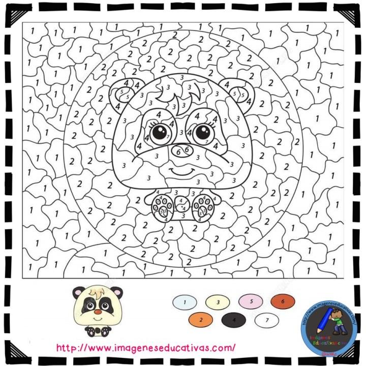 Fichas para colorear por números - Imagenes Educativas