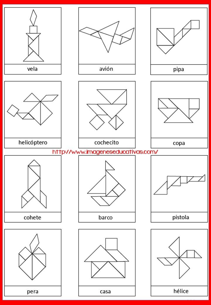 Figuras Para Imprimir Plantillas Incluidas Tangram Orientacion Andujar