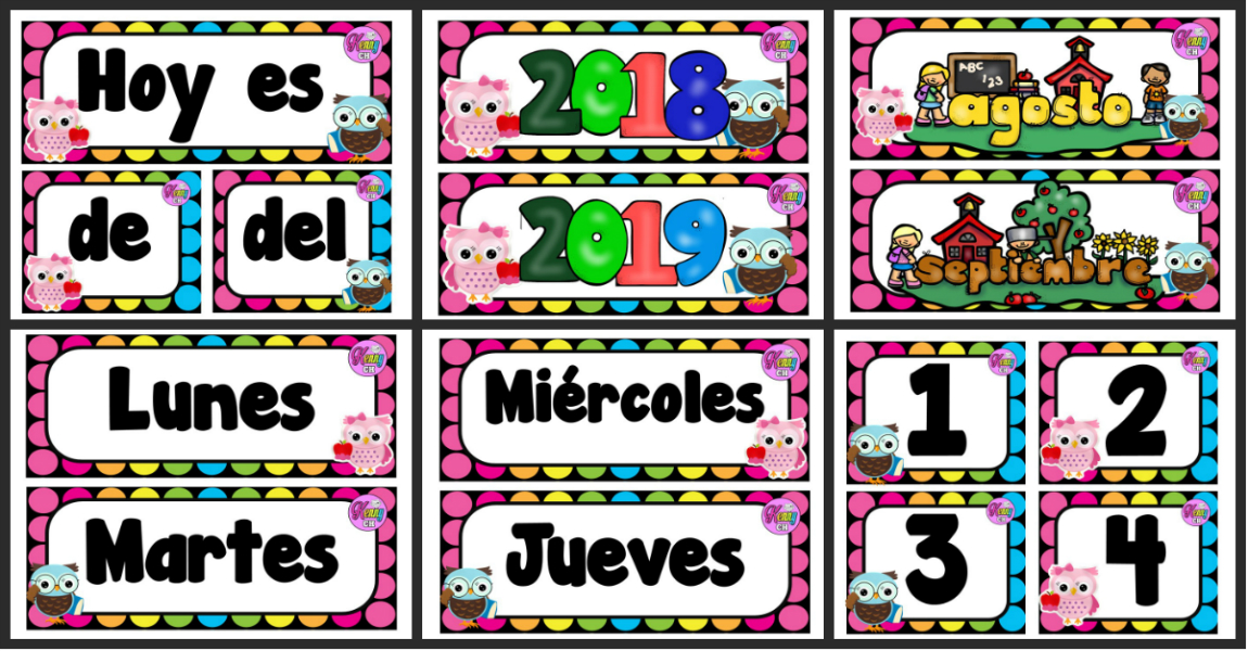 Calendario Para Kinder 2019.Calendario Movil Curso 2018 2019 Imagenes Educativas