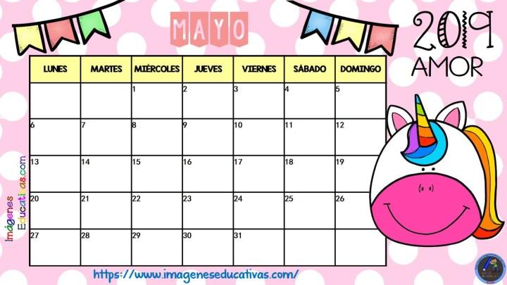 Calendario De Agosto 2019 Decorado.Calendario Curso 2018 2019 Unicornios Emociones Imagenes