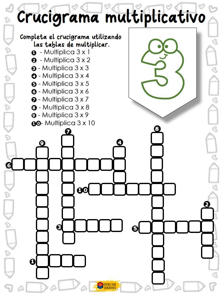 Crucigrama multiplicativo (2)
