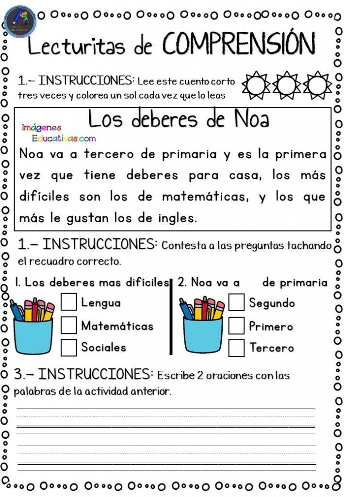 Comprensión lectora con minifichas para Infantil y primer ciclo de Primaria  -Orientacion Andujar