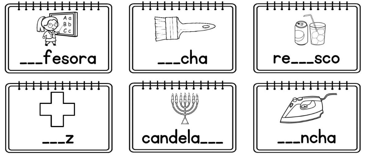Dibujos Con La Trabada Br: Silabas Trabadas Fichas Para Trabajarlas Rellenando Huecos
