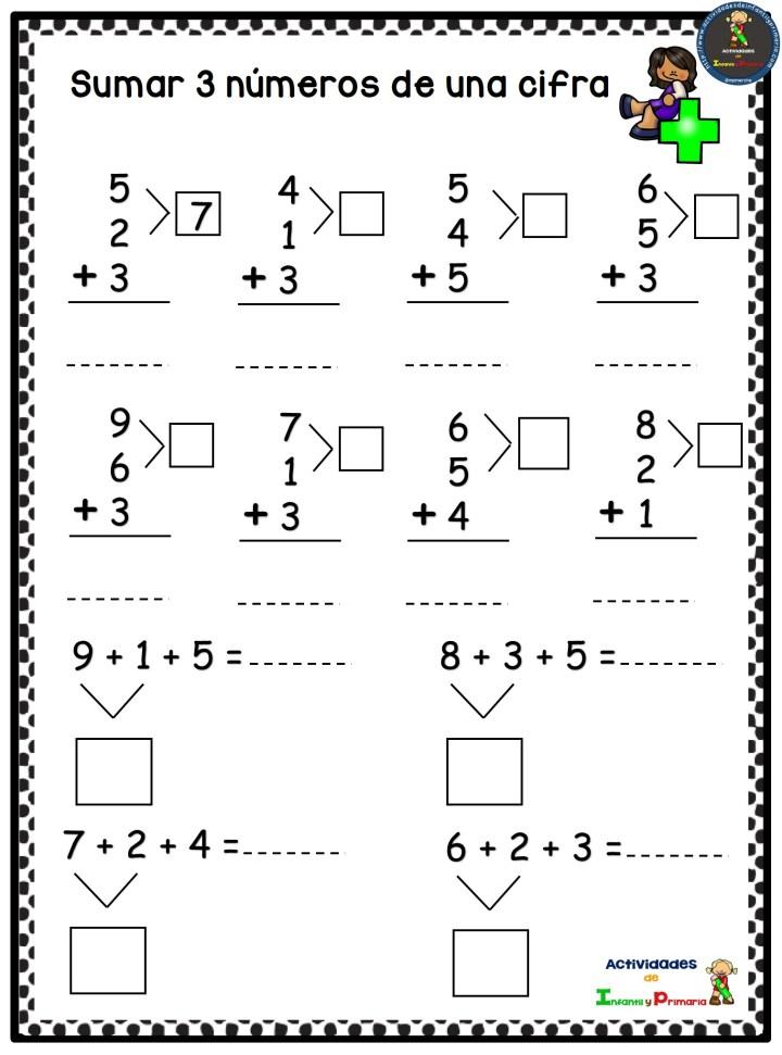 Colección de fichas matemáticas para primaria – Imagenes ...