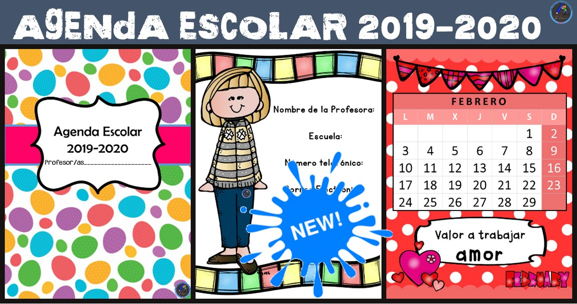 Calendario Escolar Cantabria 202019.Nueva Y Exclusiva Agenda Escolar 2019 2020 Totalmente Original Y