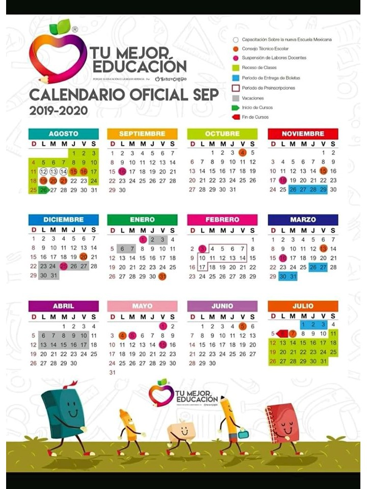 Calendario Academico 2020 18.Nueva Y Exclusiva Agenda Escolar 2019 2020 Totalmente Original Y