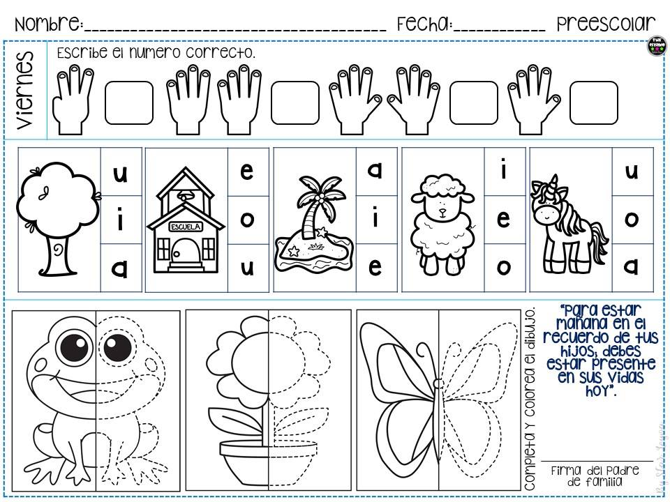 Cuaderno De Repaso Para Preescolar E Infantil 5 Imagenes