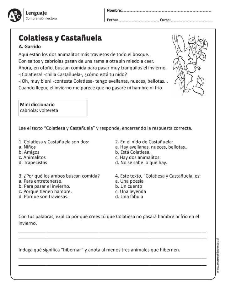 Lecturas Cortas Para Niños De Quinto Grado Para Imprimir Noticias Niños
