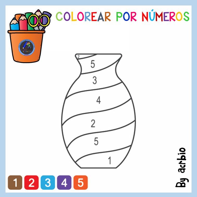 Librito Para Colorear Por Números 12 Imagenes Educativas